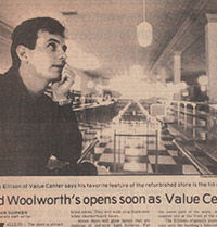 Eco Thrift newspaper clipping of Greg, the founder