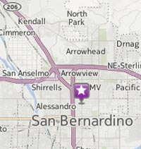 google map of San Bernardino Eco Thrift location