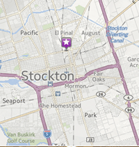 Google map location of Eco Thrift in Stockton