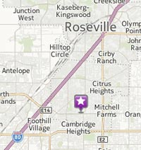 google map of Citrus Heights Eco Thrift Store Location