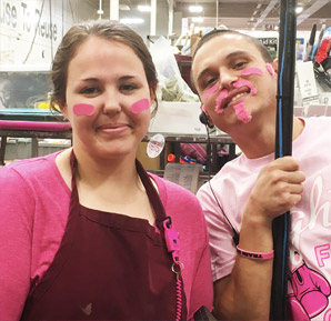 breast cancer awareness day at eco thrift