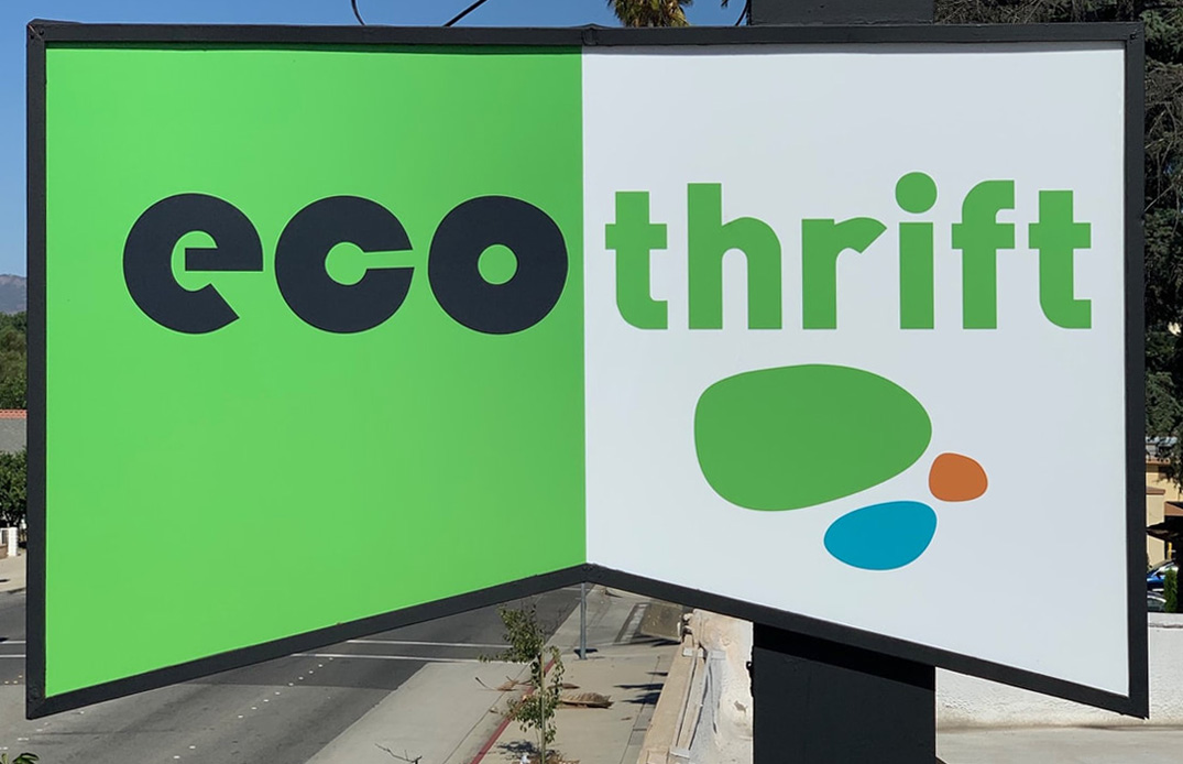 store front of Eco Thrift Pomona